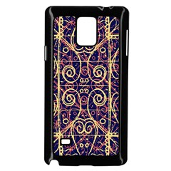 Tribal Ornate Pattern Samsung Galaxy Note 4 Case (black) by dflcprints