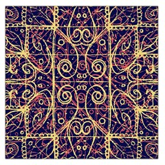 Tribal Ornate Pattern Large Satin Scarf (square) by dflcprints