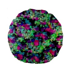 Blended Texture        Standard 15  Premium Flano Round Cushion by LalyLauraFLM
