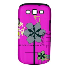 Flowers and squares        Samsung Galaxy S II i9100 Hardshell Case (PC+Silicone) by LalyLauraFLM