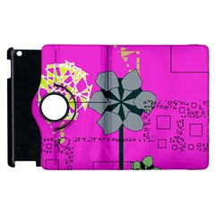 Flowers And Squares        Apple Ipad 2 Flip 360 Case by LalyLauraFLM