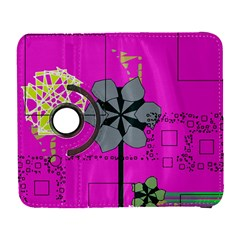 Flowers And Squares        Samsung Galaxy Note Ii Flip 360 Case by LalyLauraFLM
