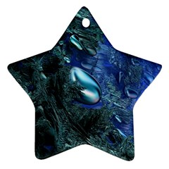 Shiny Blue Pebbles Ornament (star) by linceazul