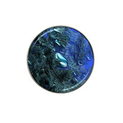 Shiny Blue Pebbles Hat Clip Ball Marker (4 Pack) by linceazul