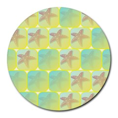Starfish Round Mousepads by linceazul
