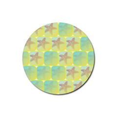 Starfish Rubber Round Coaster (4 Pack)  by linceazul