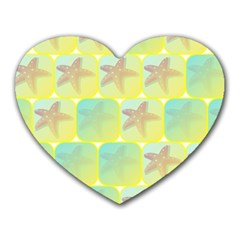 Starfish Heart Mousepads by linceazul