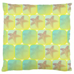 Starfish Large Cushion Case (two Sides) by linceazul