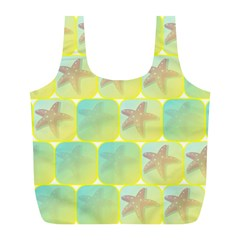 Starfish Full Print Recycle Bags (l)  by linceazul