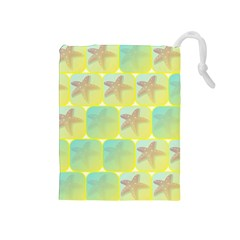 Starfish Drawstring Pouches (medium)  by linceazul