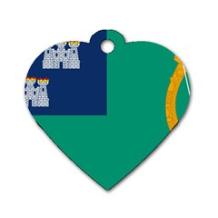 City Of Dublin Fag  Dog Tag Heart (one Side) by abbeyz71