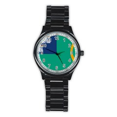 City Of Dublin Flag Stainless Steel Round Watch by abbeyz71