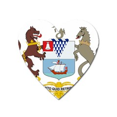 Coat Of Arms Of Belfast  Heart Magnet by abbeyz71