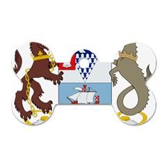 Coat Of Arms Of Belfast  Dog Tag Bone (one Side) by abbeyz71