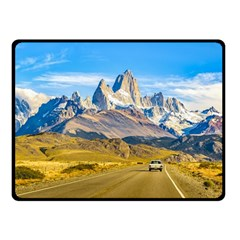 Snowy Andes Mountains, El Chalten, Argentina Double Sided Fleece Blanket (small)  by dflcprints