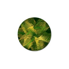 Green And Gold Abstract Golf Ball Marker by linceazul
