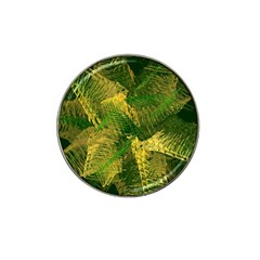 Green And Gold Abstract Hat Clip Ball Marker (10 Pack) by linceazul