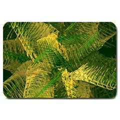 Green And Gold Abstract Large Doormat  by linceazul