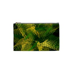 Green And Gold Abstract Cosmetic Bag (small)  by linceazul