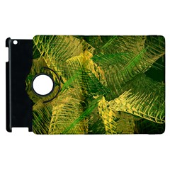 Green And Gold Abstract Apple Ipad 3/4 Flip 360 Case by linceazul