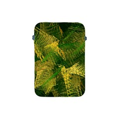 Green And Gold Abstract Apple Ipad Mini Protective Soft Cases by linceazul