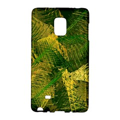 Green And Gold Abstract Galaxy Note Edge by linceazul