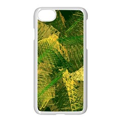 Green And Gold Abstract Apple Iphone 7 Seamless Case (white) by linceazul