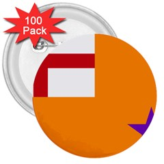 Flag Of The Orange Order 3  Buttons (100 Pack)  by abbeyz71