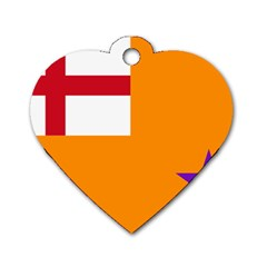Flag Of The Orange Order Dog Tag Heart (one Side) by abbeyz71