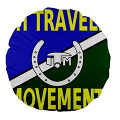 Flag Of The Irish Traveller Movement Large 18  Premium Flano Round Cushions by abbeyz71