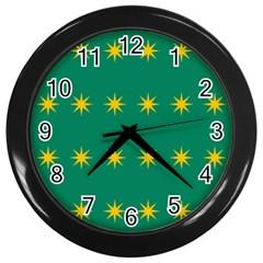 32 Stars Fenian Flag Wall Clocks (black) by abbeyz71