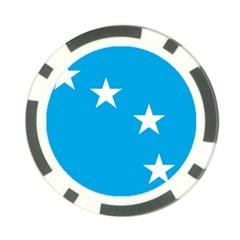 Starry Plough Flag Poker Chip Card Guard by abbeyz71