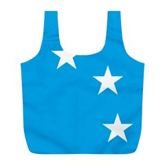Starry Plough Flag Full Print Recycle Bags (l)  by abbeyz71
