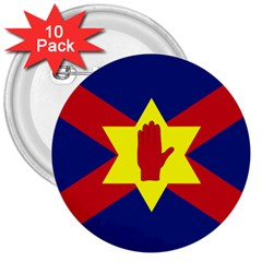 Flag Of The Ulster Nation 3  Buttons (10 Pack)  by abbeyz71