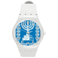 Emblem Of Israel Round Plastic Sport Watch (m) by abbeyz71