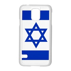 Flag Of Israel Samsung Galaxy S5 Case (white) by abbeyz71