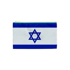 Flag Of Israel Cosmetic Bag (xs) by abbeyz71
