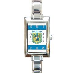 Flag Of Jerusalem Rectangle Italian Charm Watch by abbeyz71
