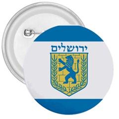 Flag Of Jerusalem 3  Buttons by abbeyz71