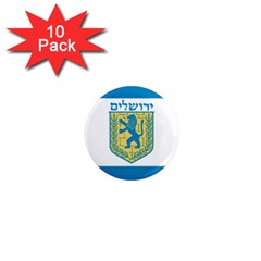 Flag Of Jerusalem 1  Mini Magnet (10 Pack)  by abbeyz71