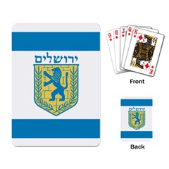 Flag Of Jerusalem Playing Card by abbeyz71