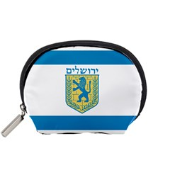 Flag Of Jerusalem Accessory Pouches (small)  by abbeyz71