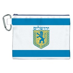 Flag Of Jerusalem Canvas Cosmetic Bag (xxl) by abbeyz71