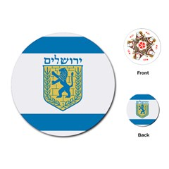Flag Of Jerusalem Playing Cards (round)  by abbeyz71