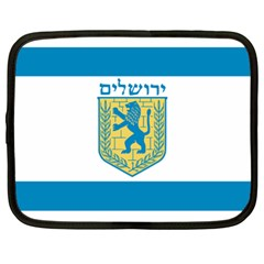 Flag Of Jerusalem Netbook Case (xl)  by abbeyz71