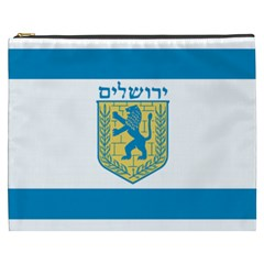 Flag Of Jerusalem Cosmetic Bag (xxxl)  by abbeyz71