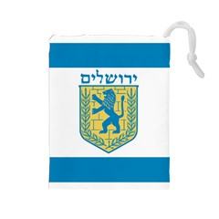 Flag Of Jerusalem Drawstring Pouches (large)  by abbeyz71
