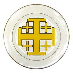 Jerusalem Cross Porcelain Plates by abbeyz71