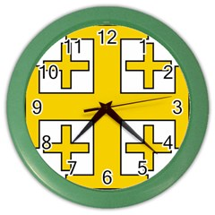 Jerusalem Cross Color Wall Clocks by abbeyz71