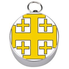 Jerusalem Cross Silver Compasses by abbeyz71
